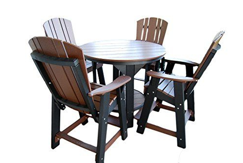 Most Recently Released Little Cottage Company Heritage 5 Piece Pub Set Black ** Click On Pertaining To Rocco 9 Piece Extension Counter Sets (View 5 of 20)