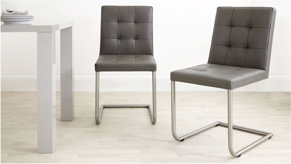 Most Recently Released Lovely Real Leather Designer Dining Chair Grey White And Black Uk For Real Leather Dining Chairs (View 15 of 20)