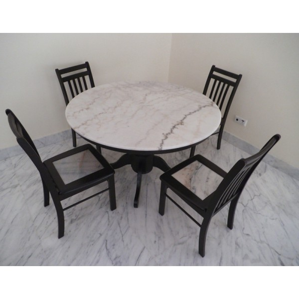 Most Recently Released Marble Top Table Pertaining To Marble Dining Chairs (View 20 of 20)