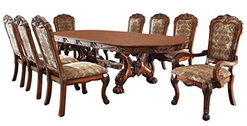 Most Recently Released Medieve English Style Antique Oak Finish 9Piece Formal Dining Table Regarding Palazzo 7 Piece Rectangle Dining Sets With Joss Side Chairs (View 11 of 20)