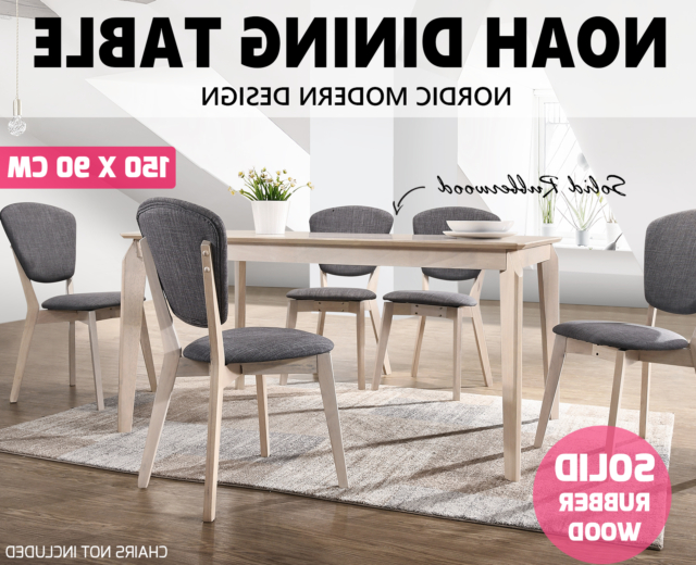 Most Recently Released Noah Dining Tables Throughout Noah Designer Dining Table 150X90 Cm 6 Seater Scandinavian Solid (View 8 of 20)