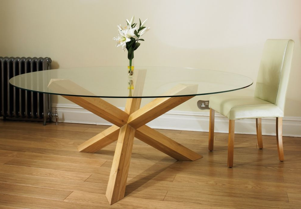 Featured Photo of Oak Glass Dining Tables