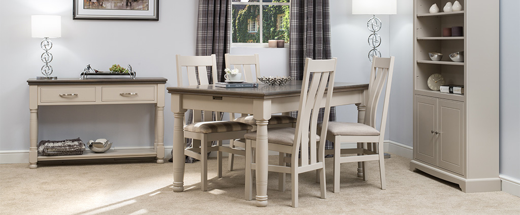 Most Recently Released Painted Dining Tables Within Painted Dining Tables & Chairs (View 5 of 20)