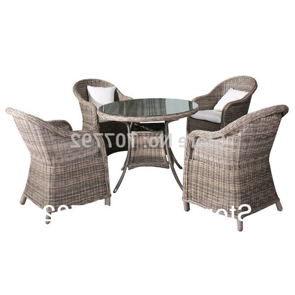 Most Recently Released Rattan Dining Tables And Chairs With 2014 Garden Style 5 Piece Rough Rattan Dining Table And Chairs Set (View 13 of 20)