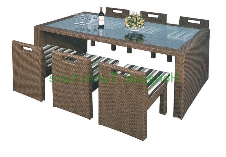 Most Recently Released Rattan Dining Tables Inside Wicker Dining Furniture Supplier,rattan Dining Table And Chairs In (View 10 of 20)