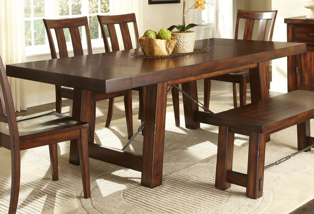 Most Recently Released Rectangular Dining Tables Sets Pertaining To How To Diy Dining Room Sets With Bench – Blogbeen (View 9 of 20)