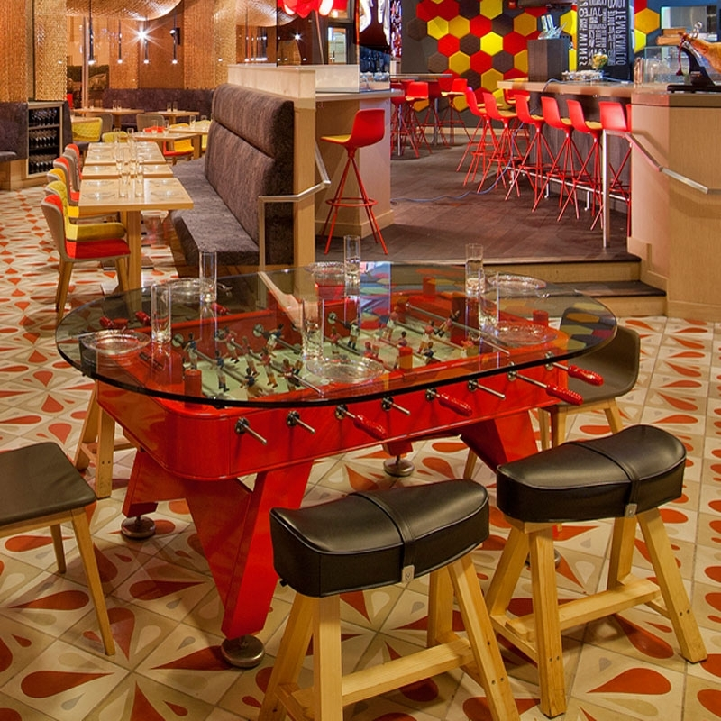 Most Recently Released Rs Fdto Red, Rs Barcelona Dining Foosball Table Inside Barcelona Dining Tables (View 13 of 20)