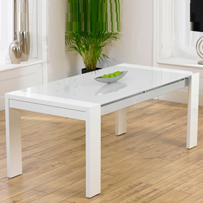 Most Recently Released Selina White Gloss And Glass Dining Table – Robson Furniture With Regard To White Gloss And Glass Dining Tables (Gallery 6 of 20)