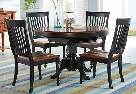 Most Recently Released Shop For A Cindy Crawford Home Ocean Grove Black 5 Pc Dining Room W Intended For Crawford 7 Piece Rectangle Dining Sets (View 3 of 20)