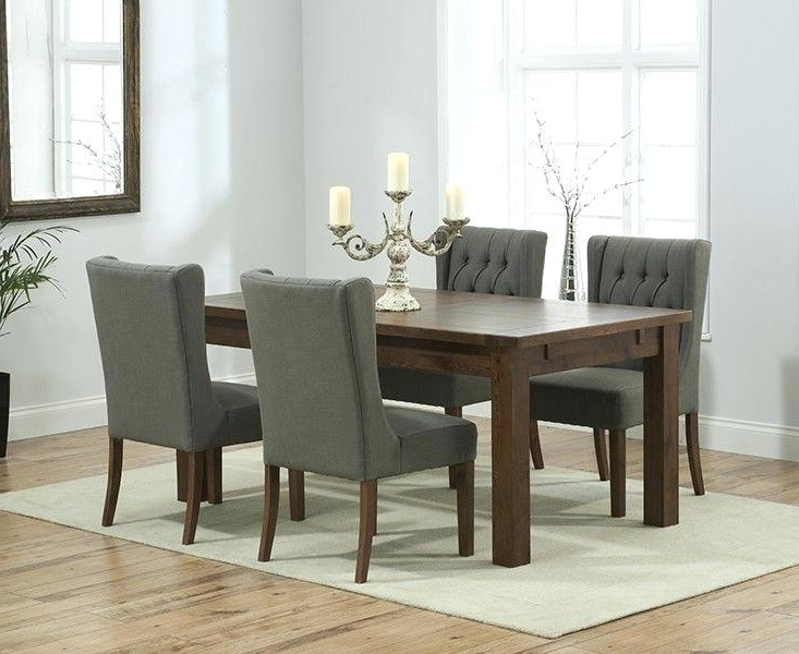Most Recently Released Solid Dark Wood Dining Tables Pertaining To Solid Dark Wood Extending Dining Table Brown Walnut Set Chairs (View 12 of 20)