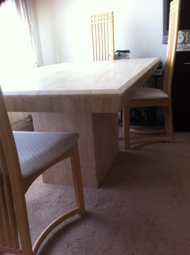 Most Recently Released Solid Marble Dining Tables Regarding Marble Dining Table – Second Hand Household Furniture, Buy And Sell (View 8 of 20)