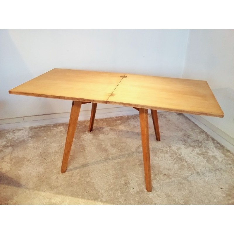 Most Recently Released Square Extendable Dining Tables Throughout Square Extendable Dining Table In Solid Oak – 1950S – Design Market (View 10 of 20)