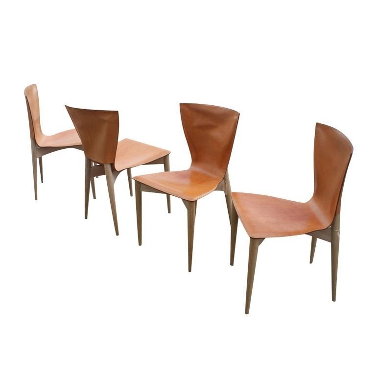 Most Recently Released Vela Side Chairs Regarding Four Carlo Bartoli For Matteograssi Vela Dining Side Chairs At 1stdibs (View 4 of 20)