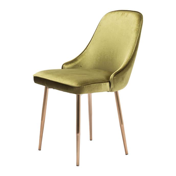 Most Recently Released Velvet Dining Chairs Within Merritt Modern Dining Chair Green Velvet (View 7 of 20)