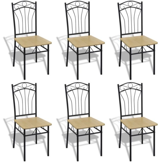 Most Recently Released Vidaxl Set Of 6 Metal Dining Chairs Seat Kitchen Dining Room Office Pertaining To Ebay Dining Chairs (View 16 of 20)