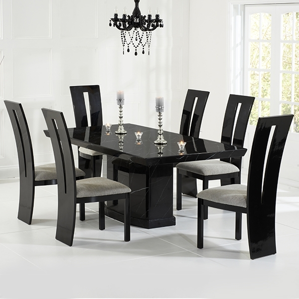 Most Recently Released Vienna Black Gloss Dining Chairs Pair – Robson Furniture Pertaining To Black Gloss Dining Sets (View 15 of 20)