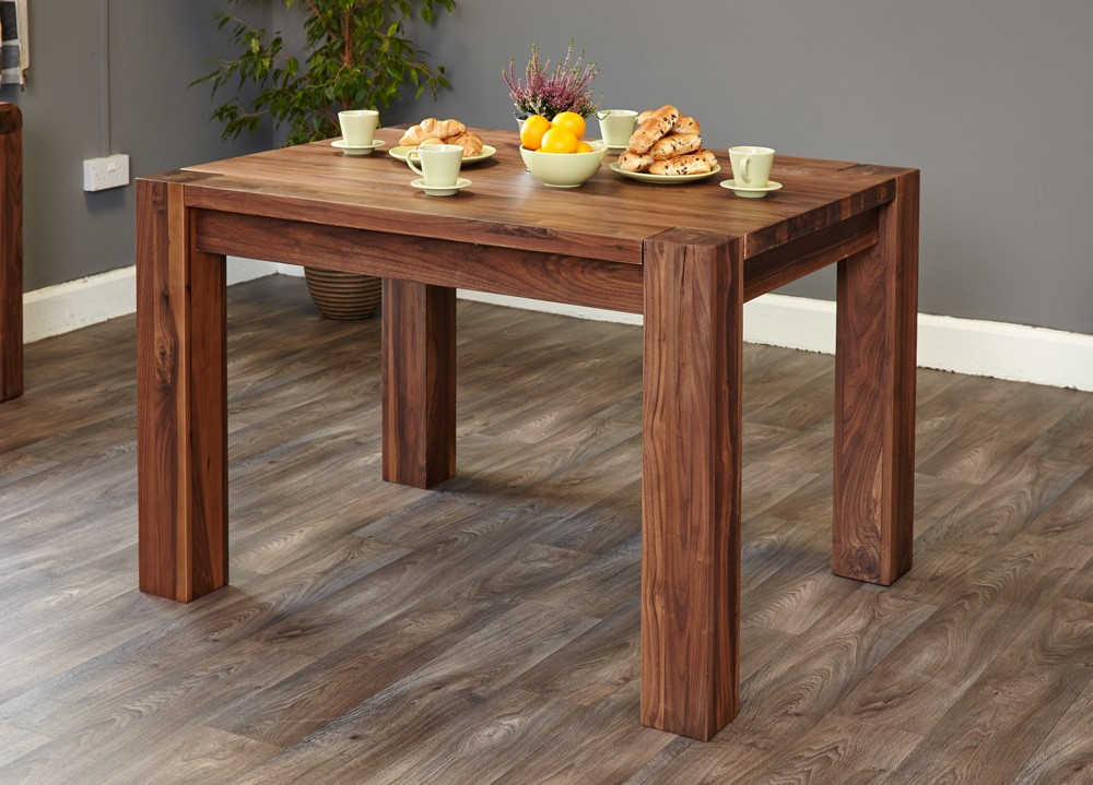 Most Recently Released Walnut Dining Tables With Mayan Walnut Dining Table (4 Seater) (View 13 of 20)