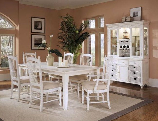 Most Recently Released White Dining Tables Sets In Love This White Dining Room Set With The Hutch; Esp (View 8 of 20)