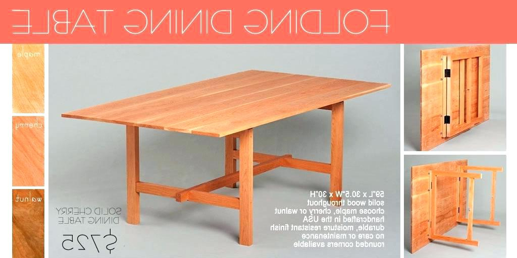 Most Recently Released Wood Folding Dining Tables Throughout Collapsible Kitchen Table Best Folding Dining Table Collapsible (View 9 of 20)