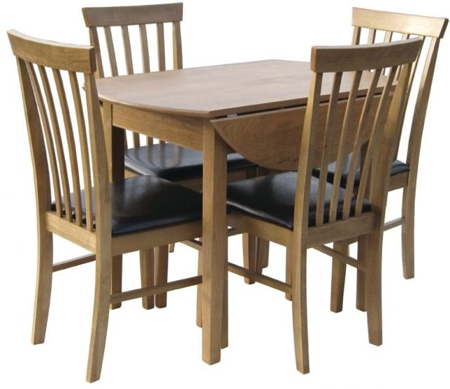 Most Up To Date 3Ft Dining Tables Throughout Glenwood Furniture Metro 3Ft Circular Dropleaf Table – Dining Tables (View 12 of 20)