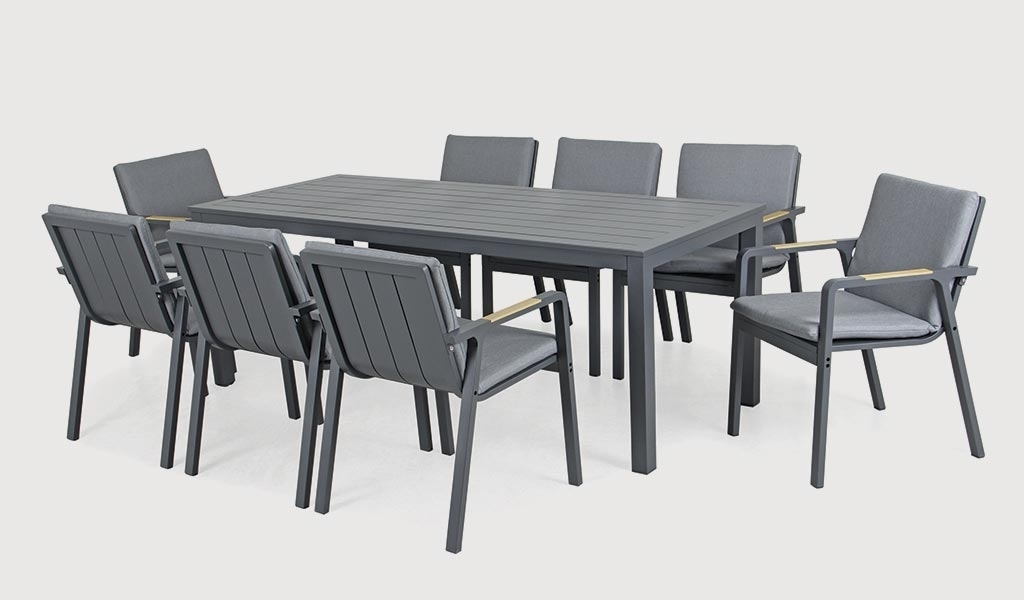 Most Up To Date 8 Seat Outdoor Dining Tables Pertaining To Paros 8 Seat Dining Set – Kettler Official Site (View 8 of 20)