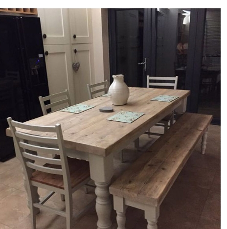 Most Up To Date 8 Seater White Dining Tables With Antique Solid Wood Stylish 6 8 Seater Dining Table, White Dining (View 7 of 20)