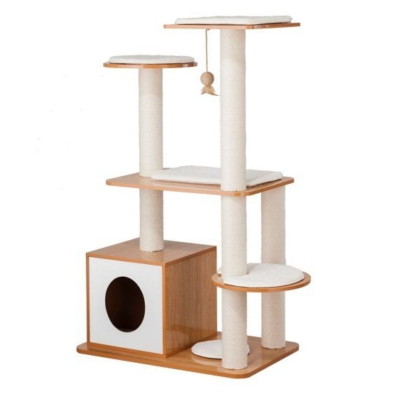Most Up To Date Alexa Firecracker Side Chairs In Ethan Pets Cat Post Tower Tree (View 9 of 20)