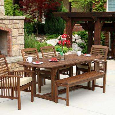 Most Up To Date Bench – Patio Dining Sets – Patio Dining Furniture – The Home Depot With Outdoor Dining Table And Chairs Sets (View 5 of 20)
