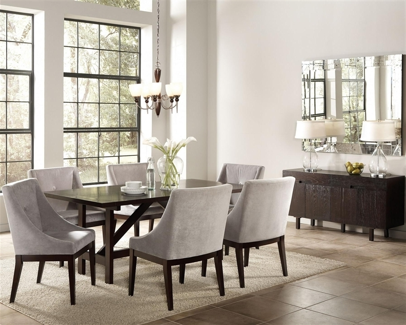 Most Up To Date Candice 7 Pc Dining Table Set In Cappuccino Finishcoaster – 102230 Intended For Candice Ii Extension Rectangle Dining Tables (View 11 of 20)