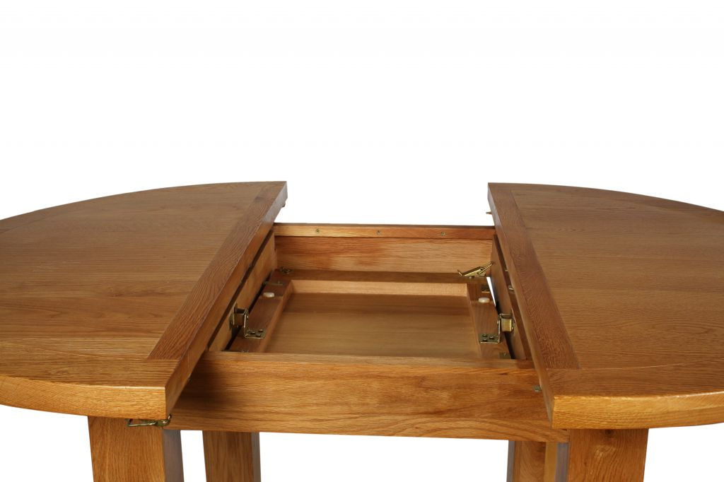 Most Up To Date Canterbury Oak Round Extending Dining Table W110 150 X D110 X H78cm (View 3 of 20)