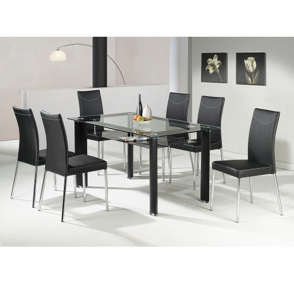 Most Up To Date Cheap Heartlands Delano Glass Dining Table Set 4 Chairs Modern White For Cheap Glass Dining Tables And 4 Chairs (View 20 of 20)