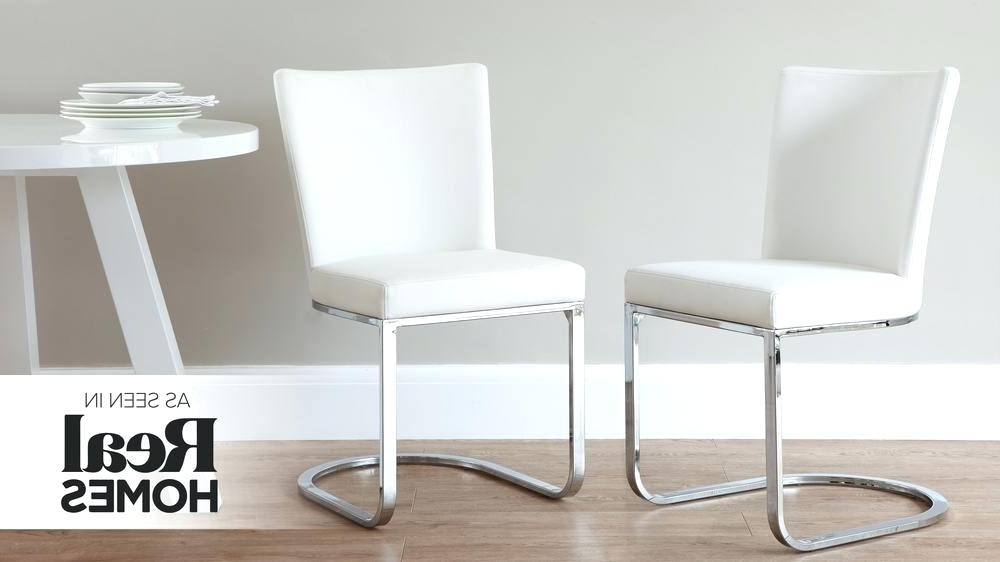 Most Up To Date Chrome Leather Dining Chairs Inside White Leather Dining Chairs Carver Tufted For Sale Wing Chair (View 18 of 20)