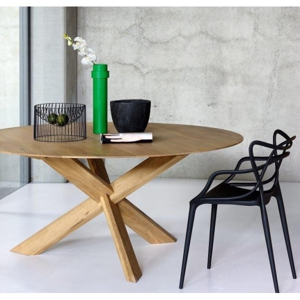 Most Up To Date Circular Dining Tables Throughout Oak Circle Dining Table (View 13 of 20)