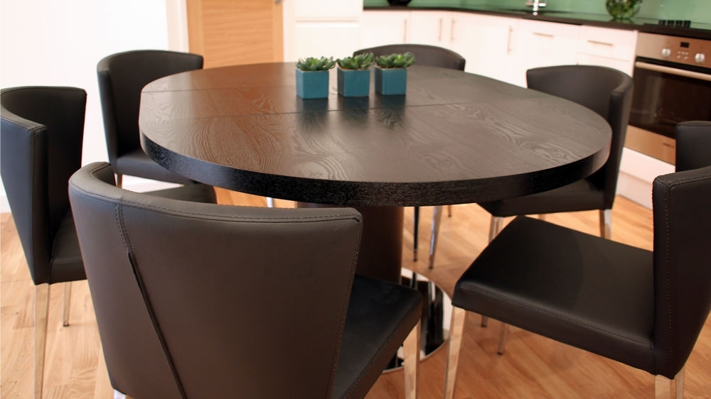 Most Up To Date Dark Wood Round Dining Table Dark Wood Round Dining Table Set With Regard To Black Circular Dining Tables (View 10 of 20)
