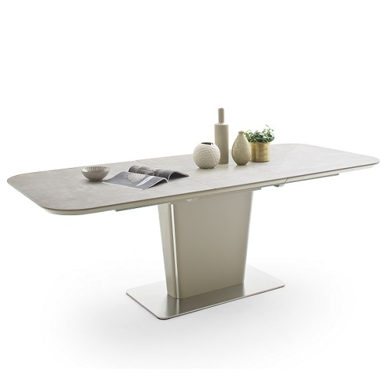 Most Up To Date Dawson Dining Tables With Dawson Extendable Dining Table Rectangular In Taupe  (View 17 of 20)