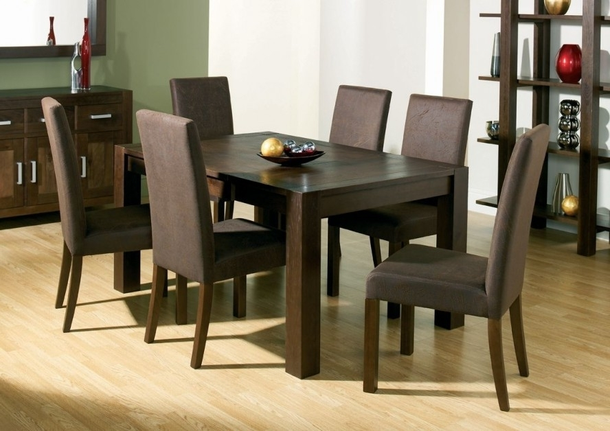 Most Up To Date Dining Room Handcrafted Wooden Dining Tables Dark Wood Dining Table For Black Wood Dining Tables Sets (View 12 of 20)