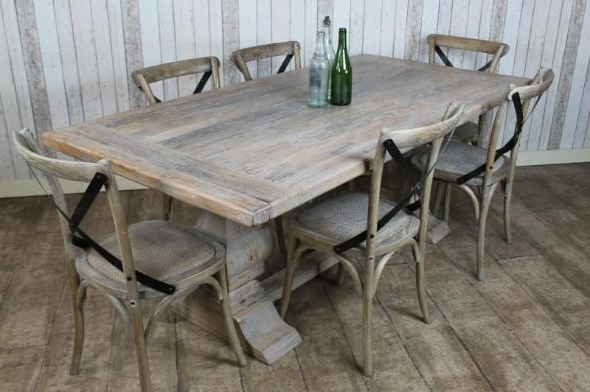 Most Up To Date Distressed Limed Elm Table (View 12 of 20)