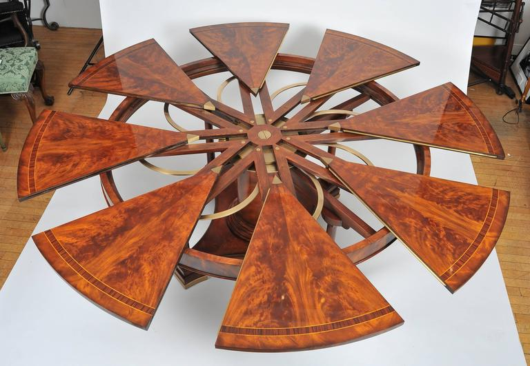 Most Up To Date Flame Mahogany Extending Circular Dining Table At 1stdibs Regarding Extending Round Dining Tables (View 17 of 20)