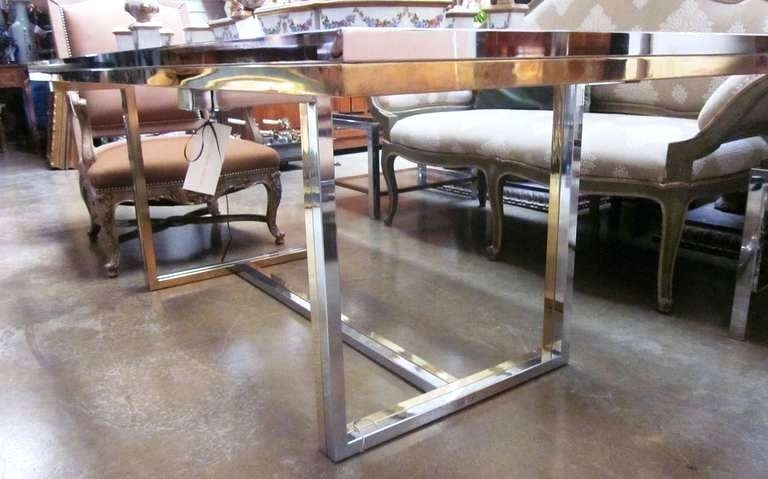 Most Up To Date French Bronze Chrome Dining Table Base – Uvalue Within Chrome Dining Tables (View 13 of 20)