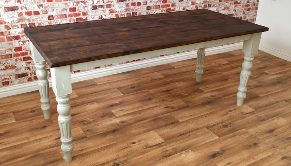 Most Up To Date French Farmhouse Dining Tables Intended For Rustic Farmhouse French Dining Table With Fluted Legs (View 14 of 20)