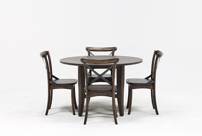 Most Up To Date Grady 5 Piece Round Dining Set (View 2 of 20)