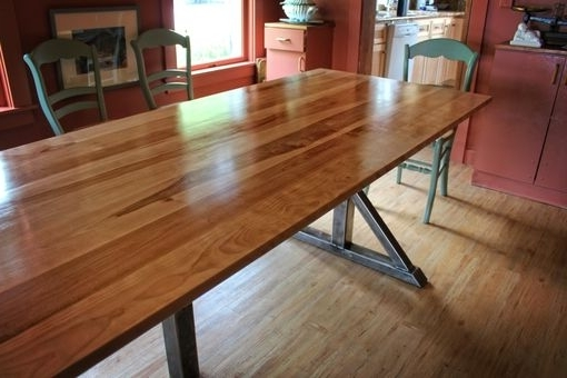 Most Up To Date Handmade Birch And Steel Trestle Dining Tablehiggins Fabrication Inside Birch Dining Tables (View 13 of 20)