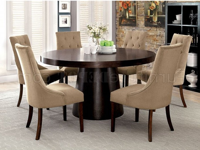 Most Up To Date Havana Dining Tables Within Cm3849T Havana Dining Table In Espresso W/options (View 16 of 20)