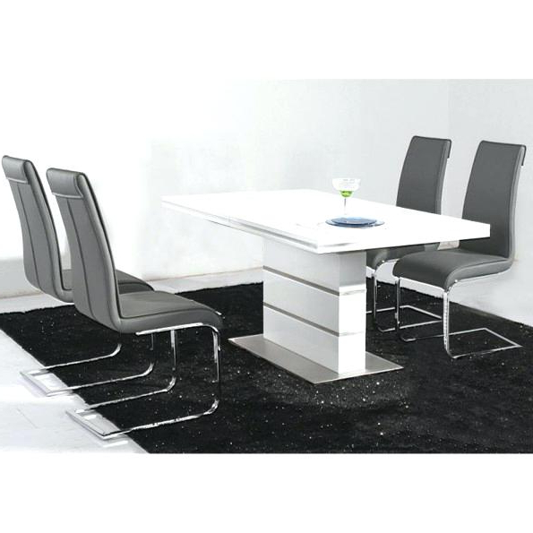 Most Up To Date Hi Gloss Dining Tables Sets Intended For White High Gloss Dining Chairs Hi Table Tables Awesome Funky Design (View 12 of 20)