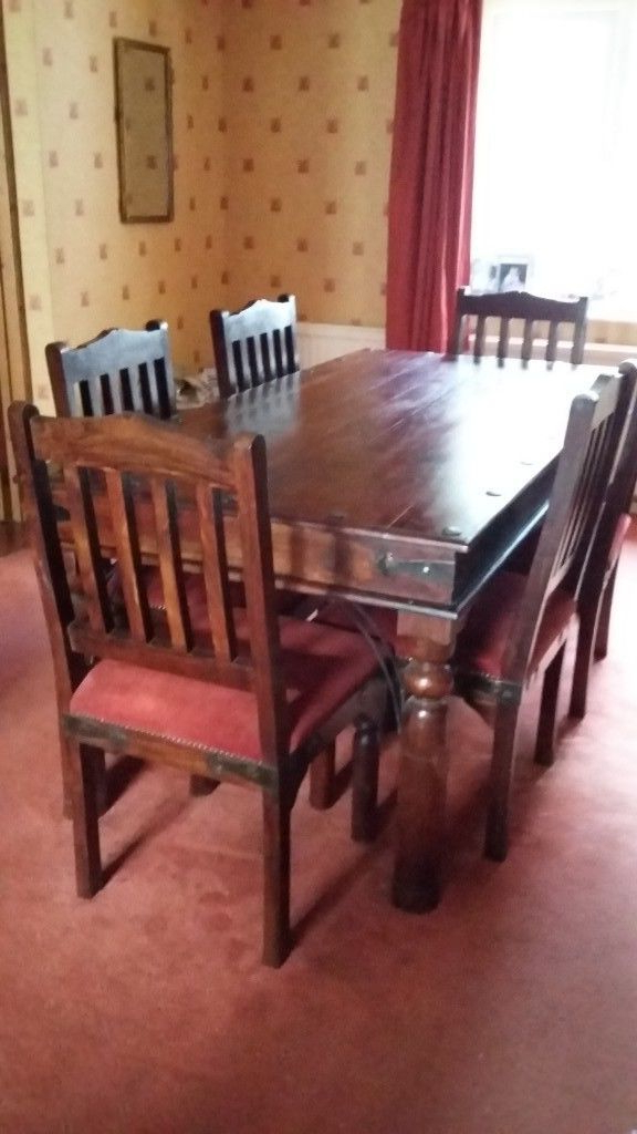 Most Up To Date Indian Style 6 Seater Wooden Dining Table And Six Padded Wooden With Indian Style Dining Tables (View 8 of 20)