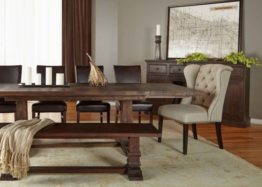 Most Up To Date Java Dining Tables With Rectangle Extension Rustic Java Dining Table (View 16 of 20)