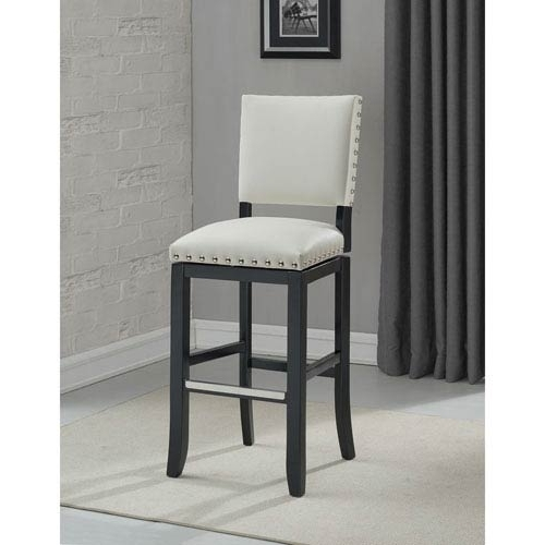 Most Up To Date Jaxon Grey Upholstered Side Chairs With American Heritage Billiards Jaxon Counter Height Stool  (View 14 of 20)