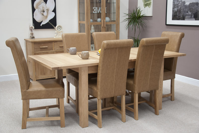 Most Up To Date Louis Oak Chunky Tan Leather Dining Chair In Oak Leather Dining Chairs (View 12 of 20)