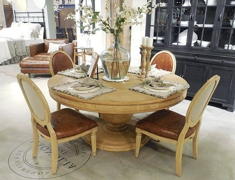 Most Up To Date Magnolia Home Reed Arm Chairs With Magnolia Home Round Dining Table (View 5 of 20)
