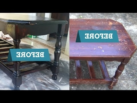 Most Up To Date Mandy Paper White Side Chairs Within How To Sand, Strip And Refinish (Varish) A Coffee Table – Youtube (View 17 of 20)